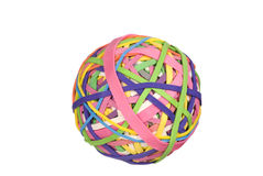 Rubber band ball Royalty Free Stock Images