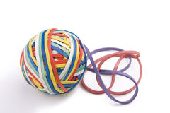Rubber Band Ball Plus Two Stock Images
