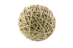 Rubber band ball on white with clipping path Royalty Free Stock Images