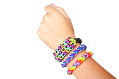 Rubber band bracelet Royalty Free Stock Image