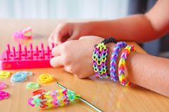 Rubber band bracelet Royalty Free Stock Images