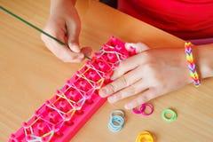 Rubber band bracelet Stock Photography
