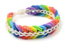Rubber band bracelet Stock Photos