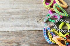 Rubber band bracelets Stock Photos