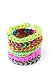 Rubber band bracelets Royalty Free Stock Photo
