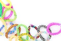Rubber band bracelets Royalty Free Stock Image