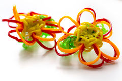 Rubber band flower ring Stock Photo
