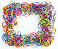 Rubber band frame Stock Photography