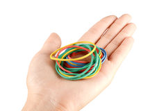 Rubber band and hand Stock Photography