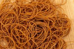Rubber band for office use stock image