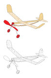 Rubber band powered plane Royalty Free Stock Photo