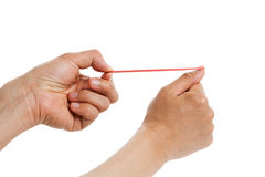 Rubber Band shoot Royalty Free Stock Photo