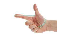 Rubber Band shoot Royalty Free Stock Images