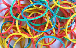Rubber bands. Many rubber bands with different colors royalty free stock images