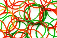 Rubber bands. Stock Images