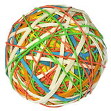 Rubber bands ball Stock Photography