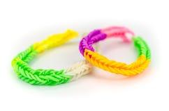 Rubber bands bracelet Stock Photo