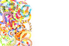 Rubber bands bracelets Royalty Free Stock Image