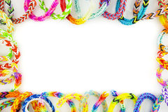 Rubber bands bracelets Royalty Free Stock Photo