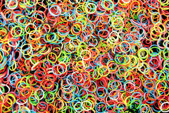 Rubber bands bracelets Royalty Free Stock Image