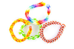 Rubber bands bracelets Royalty Free Stock Photos