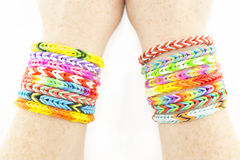 Rubber bands bracelets Royalty Free Stock Images