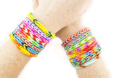 Rubber bands bracelets Stock Photos