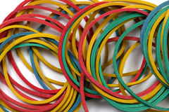 Rubber bands close up Royalty Free Stock Photography