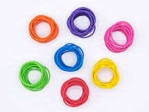 Rubber bands grouped by color Stock Images
