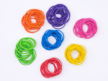 Rubber bands grouped by color Royalty Free Stock Photography