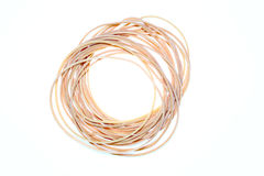 Rubber bands isolated Stock Image
