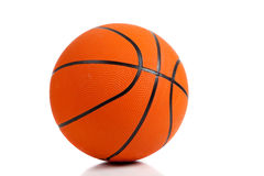 Rubber Basketball on white Stock Image