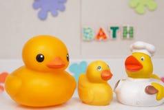 Rubber bath ducks Stock Images