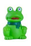 Rubber bath toys,  green frog Stock Photos