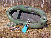 Rubber boat Stock Images