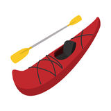 Rubber boat with oar cartoon Royalty Free Stock Photography
