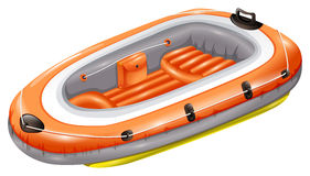Rubber boat vector illustration