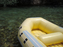 Rubber boat for rafting Royalty Free Stock Images