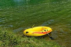 Rubber boat Royalty Free Stock Photo