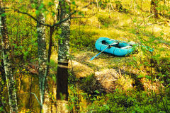 Rubber Boat On The Shore Stock Photography