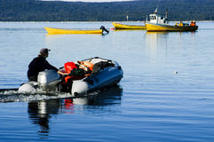 Rubber boat Royalty Free Stock Photography