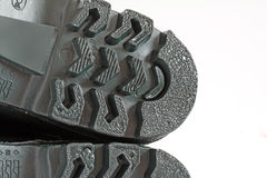 Rubber boot. Heel texture green rubber boot Royalty Free Stock Photo