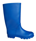 Rubber boot - blue Royalty Free Stock Images