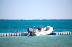 Rubber boot met motor royalty-vrije stock foto