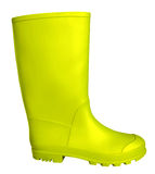 Rubber boot - yellow Stock Photos