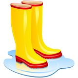 Rubber boots. Royalty Free Stock Image