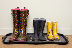 Rubber boots stock photos