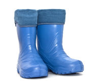 Rubber boots. Isolated on white background Stock Photos