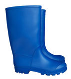 Rubber boots - blue Stock Image