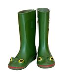 Rubber boots with eyes Stock Photos